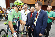 Peter Sagan (SVK - Bora - Hansgrohe) and David Lappartient (FRA - UCI) during the 105th Tour de France 2018, Stage 21, Houilles - Paris Champs-Elysees (115 km) on July 29th, 2018 - Photo Luca Bettini / BettiniPhoto / ProSportsImages / DPPI