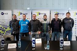 Coaches at press conference of Slovenian Handball League before the Playoff, on March 15, 2017 in NLB Center inovativnega podjetnistva, Ljubljana, Slovenia. Photo by Matic Klansek Velej / Sportida