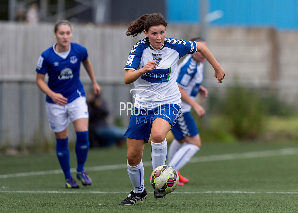 Lauren Jordinson (Durham Womens FC) in action during the FA Women's Super League match between Durham Women FC and Everton Ladies at New Ferens Park, Belmont, United Kingdom on 30 August 2015. Photo by George Ledger.