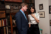 MARK GETTY; BELLA FREUD, Freud Museum dinner, Maresfield Gardens. 16 June 2011. <br /> <br />  , -DO NOT ARCHIVE-© Copyright Photograph by Dafydd Jones. 248 Clapham Rd. London SW9 0PZ. Tel 0207 820 0771. www.dafjones.com.