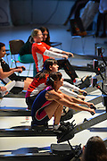 Berlin, GERMANY.  [DOW]   [Date]  Athletes competing in the; .[2. Lauf der Deutschen Indoor Rowing Serie 2012/2013.  2nd leg of the German Indoor Rowing Series 2012/2013 .at the  Cupola Hall, [Haus des Deutschen Sport,]  Berlin Sport House. at the Kuppelsaal Halle, Olympiagelände, Berlin Olympic Park, a venue used in the                       11th Olympiad 1936, [Mandatory Credit: Peter Spurrier/Intersport Images]