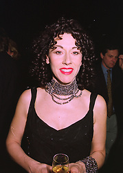 Designer HELEN DAVID  at a party in London on 26th February 1998.MFU 2