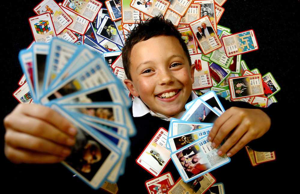 NEWS..Reporter: Alex.In photo: Jude Doxey with his Top Trumps cards..Story: He is only nine-years-old, but Nottingham schoolboy Jude Doxey may this weekend emerge national champion at Top Trumps...The youngster is aiming to be top of the class in a UK tournament of the popular schoolyard card game after emerging as one of only 72 children from more than 100,000 to win through to battle it out at London's Science Museum this Saturday. The winner will be hailed Britain's official top 'Top Trumper' and lift a trophy..Picture by: Shawn Ryan..Contact: Graham Barnes 07841 930268..