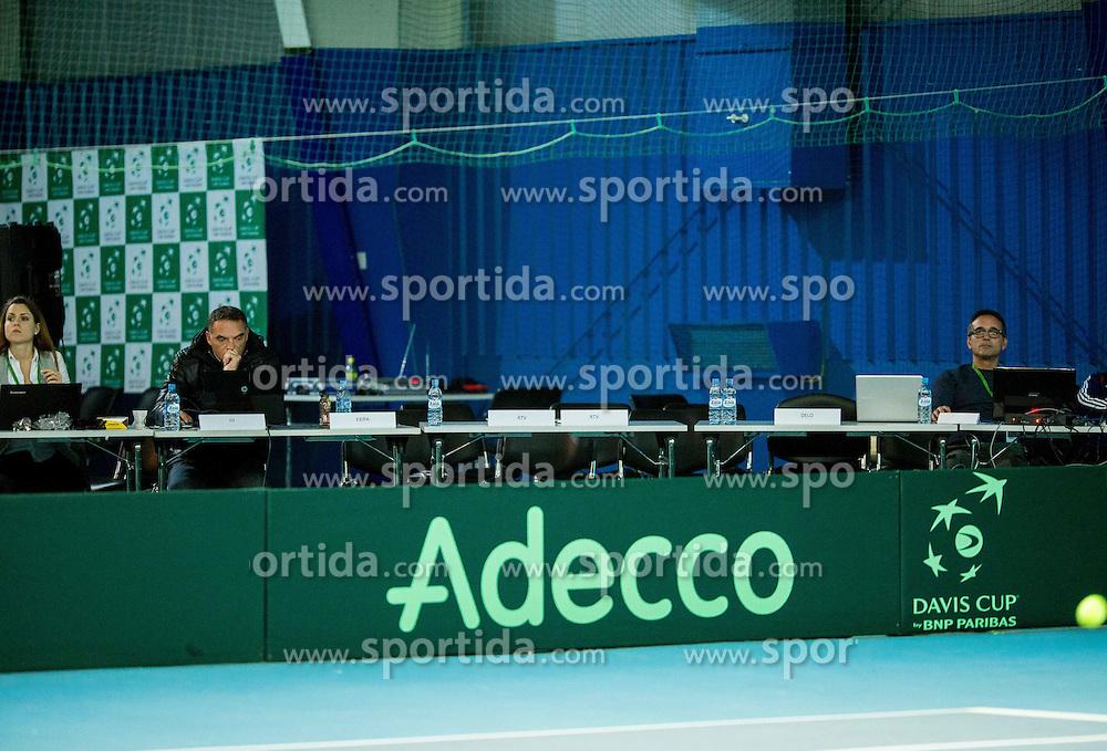Media during Day 3 at Davis Cup Slovenia vs Lithuania competition, on November 1, 2015 in Kranj, Slovenia. Photo by Vid Ponikvar / Sportida