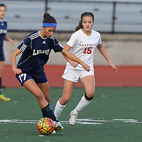 (Photograph by Bill Gerth/ for Max Preps/12/17/15) Leland vs Westmont in a Girls Soccer Game at Westmont High School, Campbell CA on12/17/15.