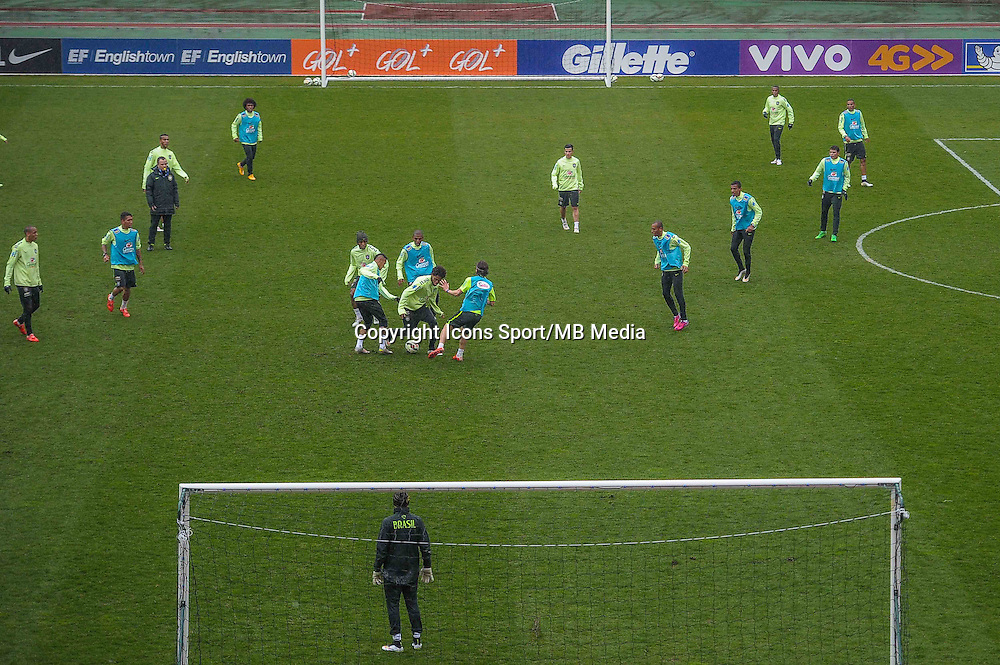 Illustration entrainement - 24.03.2015 - Football - Entrainement Bresil -Stade Charlety-Paris<br /> Photo : Andre Ferreira / Icon Sport