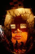 Surrealist painter Salvador Dali's Museum. Lip sofa and concave lens trick.