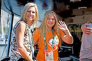RIO DE JANEIRO - Prinsesjes Amalia, Alexia en Ariane voorafgaand aan de gouden race van Dorian van Rijsselberghe tijdens de Olympische Spelen van Rio. Koning Willem-Alexander en koningin Maxima en Amalia bij de gouden race van Dorian van Rijsselberghe tijdens de Olympische Spelen van Rio. rio 2016 <br /> ROBIN UTRECHT
