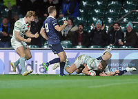Rugby Union - 2017 Varsity Match - Oxford University vs. Cambridge University<br /> <br /> Archie Russell of Cambridge dives over for his try, at Twickenham.<br /> <br /> COLORSPORT/ANDREW COWIE