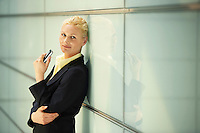 Businesswoman Using Cell Phone portrait