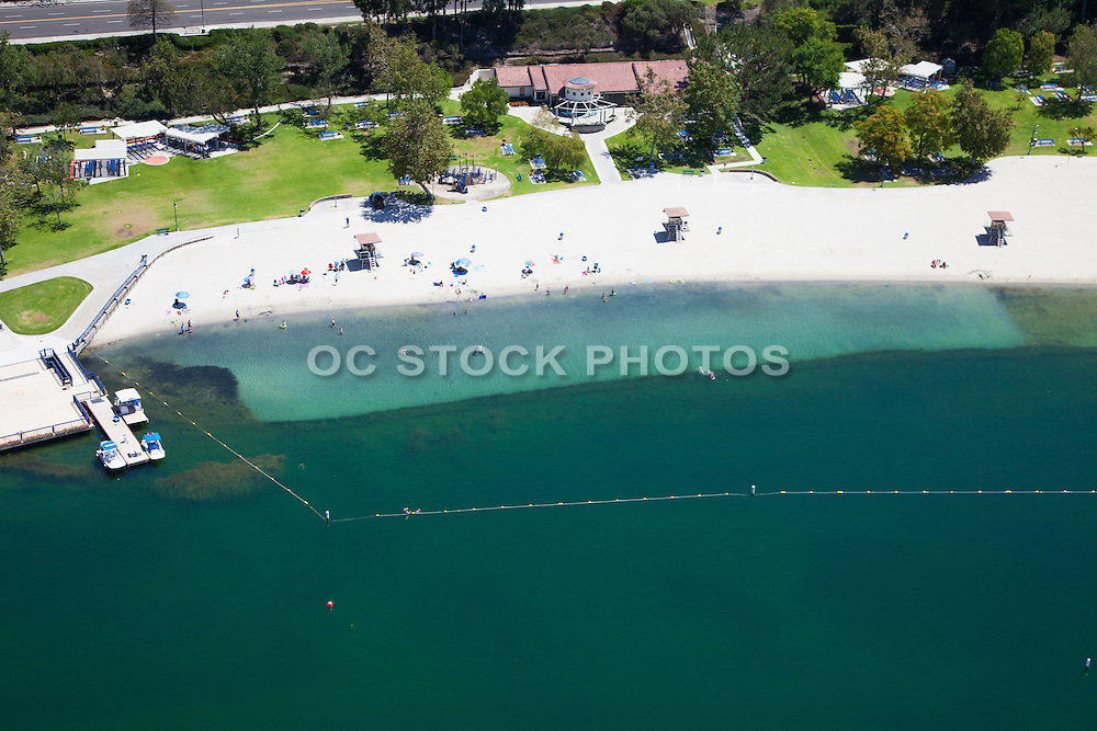 Lake Mission Viejo Beach Aerial Stock Photo
