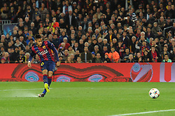 Barcelona's Neymar takes a shot at goal. - Photo mandatory by-line: Dougie Allward/JMP - Mobile: 07966 386802 - 18/03/2015 - SPORT - Football - Barcelona - Nou Camp - Barcelona v Manchester City - UEFA Champions League - Round 16 - Second Leg