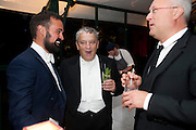 EVGENY LEBEDEV; NORMAN ROSENTHALL; ALEXANDER LEBEDEV, Evgeny Lebedev and Graydon Carter hosted the Raisa Gorbachev charity Foundation Gala, Stud House, Hampton Court, London. 22 September 2011. <br /> <br />  , -DO NOT ARCHIVE-© Copyright Photograph by Dafydd Jones. 248 Clapham Rd. London SW9 0PZ. Tel 0207 820 0771. www.dafjones.com.