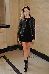 NINA NESBITT at the Gyunel Spring Summer 2015 fashion show as part of London Fashion week 2015 held at Victoria House, Bloomsbury Square, London on 12th September 2014.