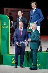 BRASH Scott (GBR), FUCHS Martin (SUI)<br /> Genf - CHI Geneve Rolex Grand Slam 2019<br /> Siegerehrung<br /> Rolex Grand Prix - Stechen<br /> Internationale Springprüfung mit Stechen<br /> International Jumping Competition 1m60<br /> Grand Prix Against the Clock with Jump-Off<br /> 15. Dezember 2019<br /> © www.sportfotos-lafrentz.de/Stefan Lafrentz