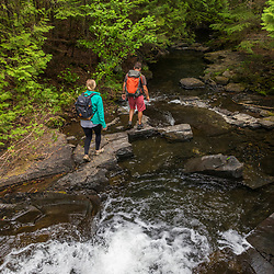 A couple hikes at Red River Falls in Aroostook County, Maine. Deboullie Public Reserve Land.