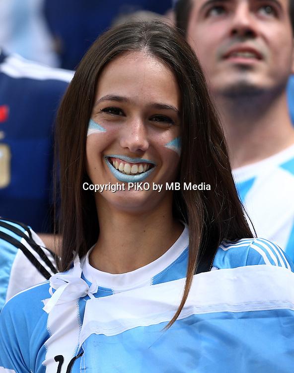 Fifa Soccer World Cup - Brazil 2014 - <br /> ARGENTINA (ARG) Vs. BELGIUM (BEL) - Quarter-finals - Estadio Nacional Brasilia -- Brazil (BRA) - 05 July 2014 <br /> Here Argentine supporters.<br /> &copy; PikoPress