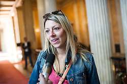 25.08.2014, Parlament, Wien, AUT, SPOe, Sitzung des Parteipraesidium. im Bild Nationalratsabgeordnete Katharina Kucharowits // Member of Parliament SPOe Katharina Kucharowits before Executive Committee meeting of SPOe at Austrian Parliament in Vienna, Austria on 2014/08/25  EXPA Pictures © 2014, PhotoCredit: EXPA/ Michael Gruber