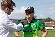 Heather Knight before the Women's Cricket Super League match between Loughborough Lightning and Western Storm at Haslegrave Ground, Loughborough, United Kingdom on 6 August 2019.