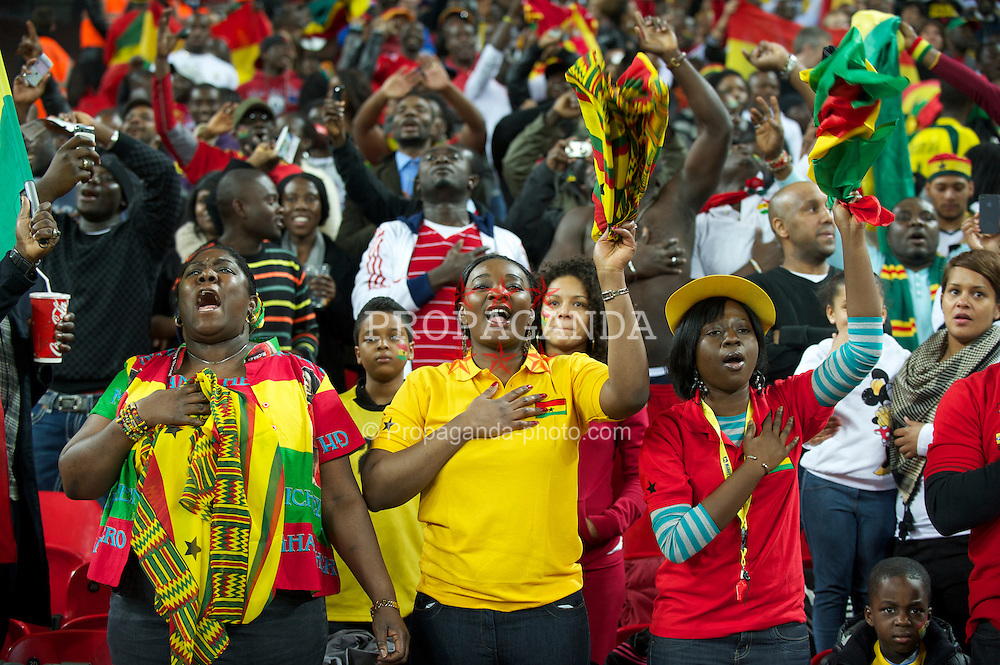 LONDON, ENGLAND - Tuesday, March 29, 2011: Ghana supporters before the international friendly match against England at Wembley Stadium. (Photo by David Rawcliffe/Propaganda)