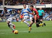Birmingham City attacker, Will Buckley (30) on the attack during the Sky Bet Championship match between Queens Park Rangers and Birmingham City at the Loftus Road Stadium, London, England on 27 February 2016. Photo by Matthew Redman.