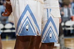 CHAPEL HILL, NC - FEBRUARY 05: A close-up of the Heel logo on the retro shorts before the North Carolina Tar Heels play against the North Carolina State Wolfpack on February 05, 2019 at the Dean Smith Center in Chapel Hill, North Carolina. North Carolina won 113-96. North Carolina wore retro uniforms to honor the 50th anniversary of the 1967-69 team. (Photo by Peyton Williams/UNC/Getty Images)
