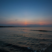 Today's   sunrise at Narragansett Town Beach,  .  June  22, 2013.