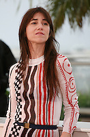 Charlotte Gainsbourg at the photo call for the film Misunderstood (Incompresa) at the 67th Cannes Film Festival, Thursday 22nd May 2014, Cannes, France.