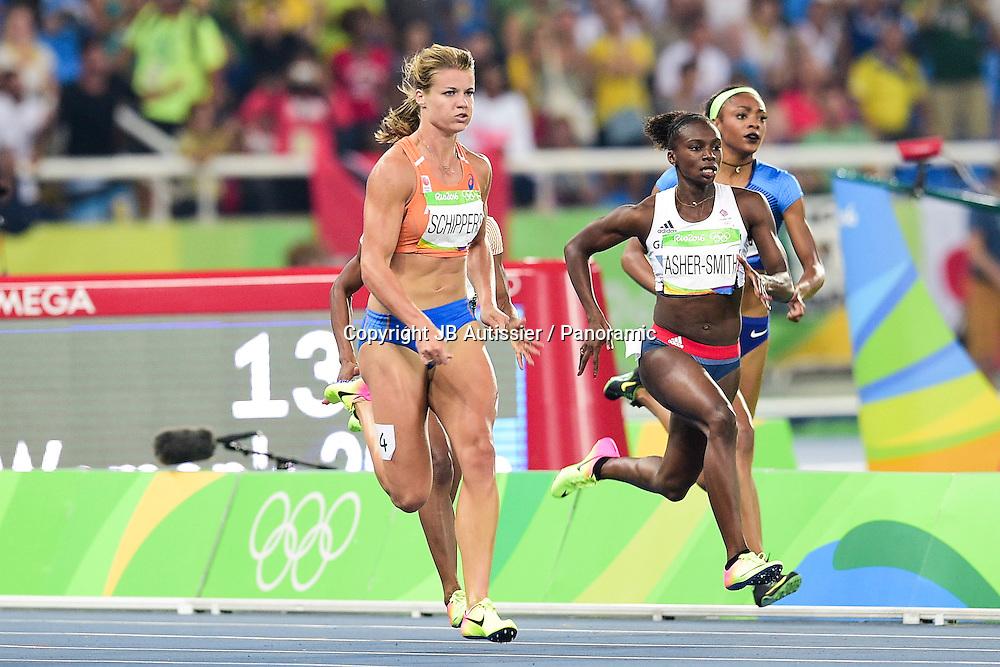 THOMPSON Elaine (jam) / SCHIPPERS Dafne (ned) - finale 200m femmes