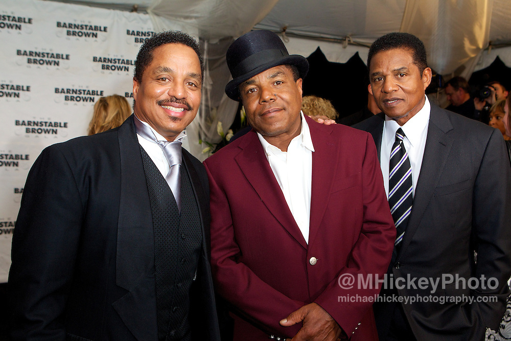 The Jacksons seen at the Barnstable Brown Gala in Louisville, Kentucky.