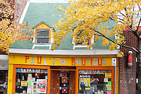 Picture of Paul's boutique store on avenue Mont-Royal, old house in Montreal, Quebec, Canada