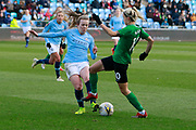 m15	Manchester City Women's Lauren Hemp (15) is challenged by Brighton Womens midfielder Kate Natkiel (10)  during the FA Women's Super League match between Manchester City Women and Brighton and Hove Albion Women at the Sport City Academy Stadium, Manchester, United Kingdom on 27 January 2019.