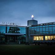 Stabilimento Maserati di Grugliasco (Torino) - dove sono in produzione la Maserati Quattroporte, recentemente commercializzata in tutto il mondo, e la Maserati Ghibli. New Maserati factory at Grugliasco as Fiat opens a new plant for the manufacture of Maserati sport cars near its headquarters in Turin,