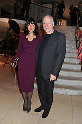 DAVID GILMOUR and POLLY SAMSON at the 2011 Costa Book Awards held at Quaglino's, 16 Bury Street, London on 24th January 2012.