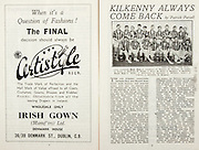All Ireland Senior Hurling Championship Final,.Brochures,.01.09.1946, 09.01.1946, 1st September 1946, .Cork 7-5, Kilkenny 3-8, .Minor Dublin v Tipperary.Senior Cork v Kilkenny.Croke Park, ..Advertisements, Certistyle Irish Gown, ..Articles,  Kilkenny Always Come Back,.