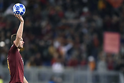 October 2, 2018 - Rome, Rome, Italy - Edin Dzeko of AS Roma takes the ball scoring an hat-trick during the UEFA Champions League group stage match between Roma and FC Viktoria Plzen at Stadio Olimpico, Rome, Italy on 2 October 2018. (Credit Image: © Giuseppe Maffia/NurPhoto/ZUMA Press)