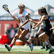 16 April 2017: The San Diego State women's lacrosse team took on the University of Colorado Sunday afternoon for their last home game of the season.<br /> www.sdsuaztecphotos.com