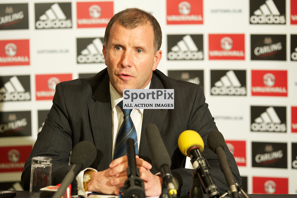 Press Call - SFA Chairman Stewart Regan at press call re decisons re Change of Club ownership at Hampden Park 6th June 2012 pre AGM