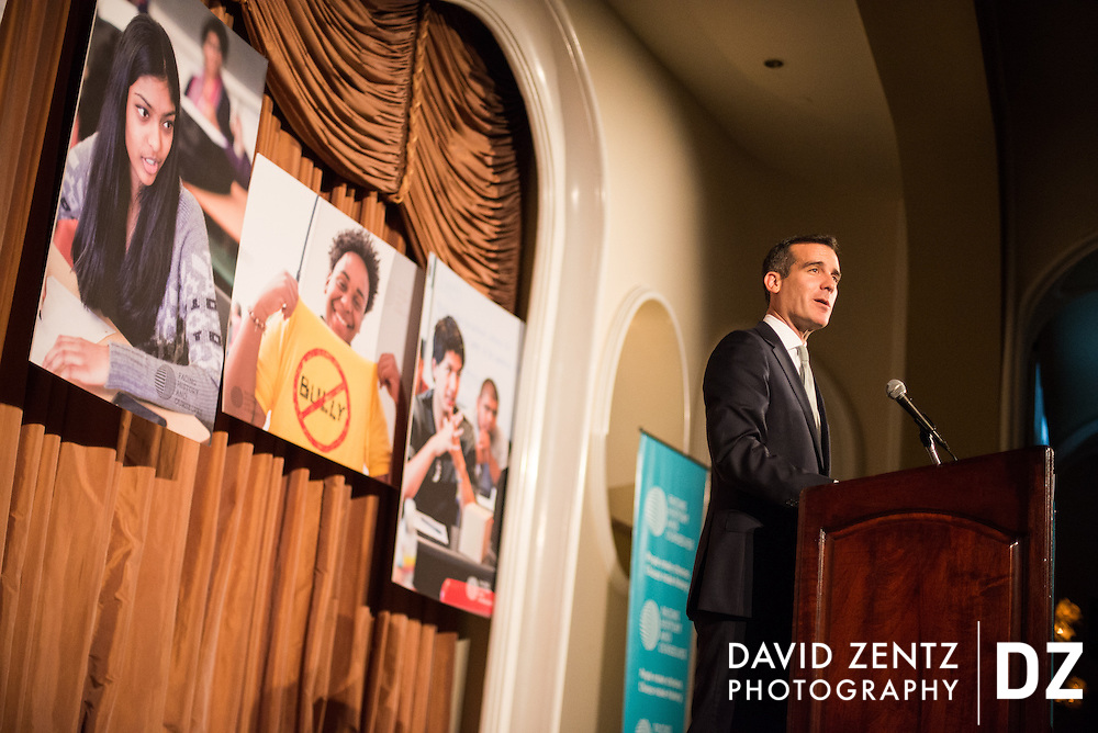 Los Angeles Mayor Eric Garcetti at a non-profit event at the Beverly Hills Hotel.