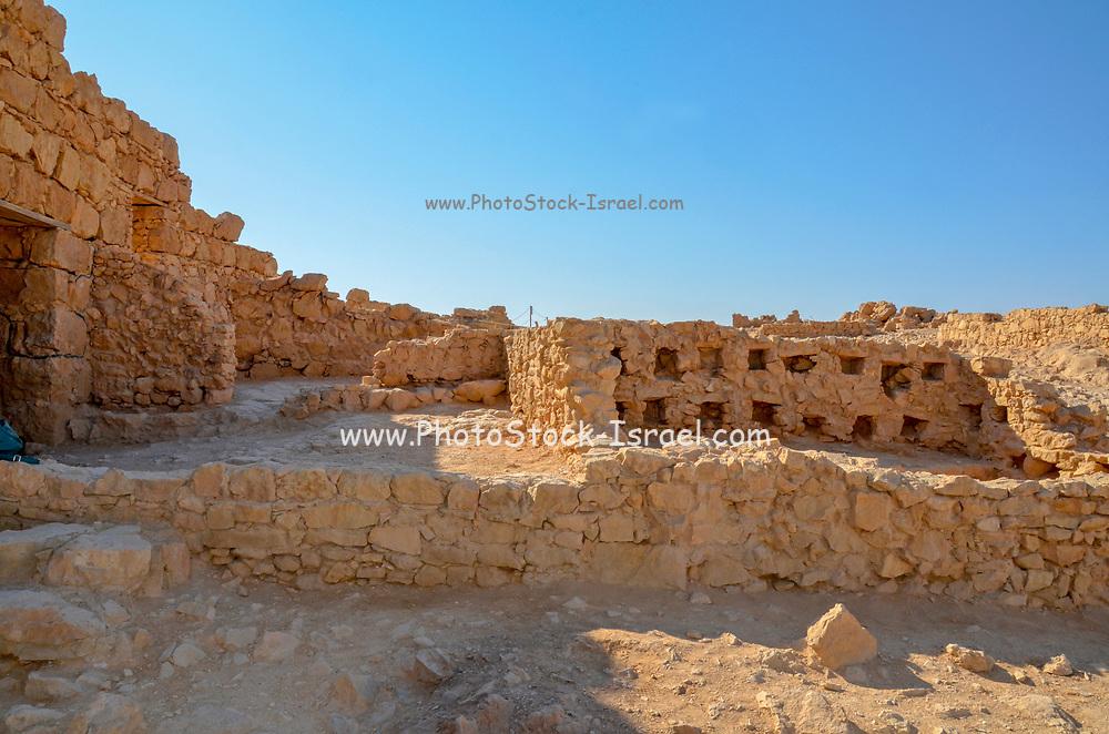 Israel, Masada Tourists visiting the site