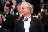 Actor Bill Murray at the gala screening of the film Moonrise Kingdom at the Cannes Film Festival. Wednesday 16th May 2012, the red carpet at Palais Des Festivals in Cannes, France.
