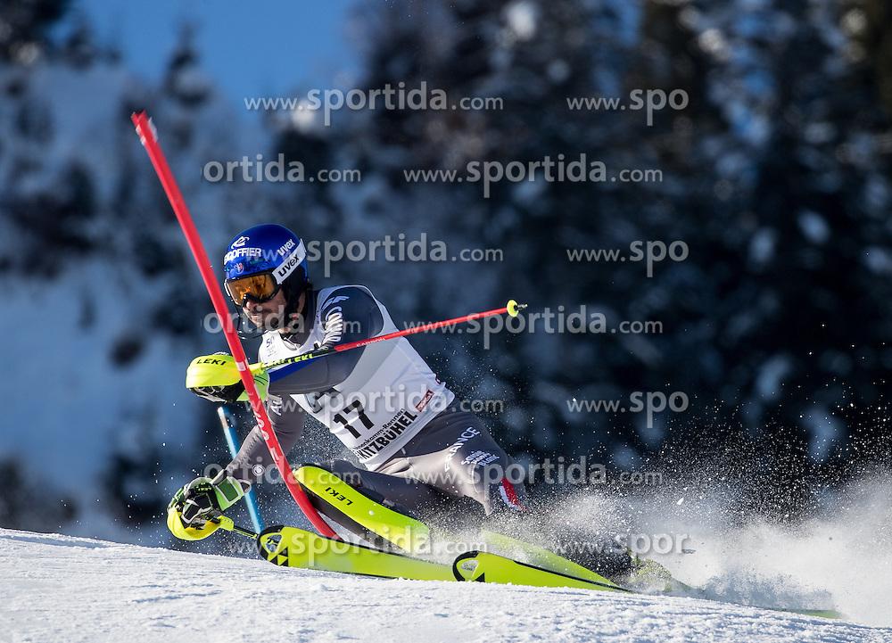 22.01.2017, Hahnenkamm, Kitzbühel, AUT, FIS Weltcup Ski Alpin, Kitzbuehel, Slalom, Herren, 1. Lauf, im Bild Jean-Baptiste Grange (FRA) // Jean-Baptiste Grange of France in action during his 1st run of men's Slalom of FIS ski alpine world cup at the Hahnenkamm in Kitzbühel, Austria on 2017/01/22. EXPA Pictures © 2017, PhotoCredit: EXPA/ Johann Groder