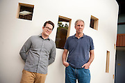 "Thomas Herndon (Left), Graduate student at the University of Massachusetts in Amherst, and Robert Pollin (Right), Co-Director of the Political Economy Research Institute at University of Massachusetts in Amherst, pose for a portrait in the Gordon Hall building in the UMass campus in Amherst, Massachusetts on June 26, 2013. Herndon and Pollin wrote an article that critiques and finds flaws in Reingart's and Rogoff's ""Growth in a Time of Debt"" article."