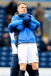 Matthew Killgallon of Blackburn Rovers carries out some pre-match stretches - Photo mandatory by-line: Matt McNulty/JMP - Mobile: 07966 386802 - 14/02/2015 - SPORT - Football - Blackburn - Ewood Park - Blackburn Rovers v Stoke City - FA Cup - Fifth Round