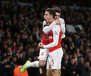 Arsenal's Gabriel celebrates scoring his sides opening goal<br /> <br /> Barclays Premier League- Arsenal vs AFC Bournemouth - Emirates Stadium - England - 28th December 2015 - Picture - David Klein/Sportimage
