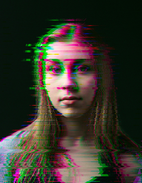 Glitch portraits by Ivan Guzman