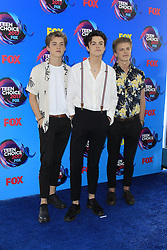 August 13, 2017 - Los Angeles, CA, USA - LOS ANGELES - AUG 13:  New Hope Club at the Teen Choice Awards 2017 at the Galen Center on August 13, 2017 in Los Angeles, CA (Credit Image: © Kay Blake via ZUMA Wire)
