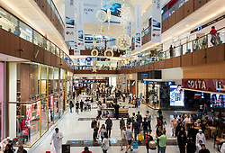 Interior of Dubai Mall in Dubai, United Arab Emirates,UAE