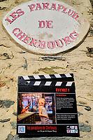 France, Manche (50), Cherbourg-Octeville, lieu du tournage du film Les Parapluies de Cherbourg // France, Normandy, Manche department, Cherbourg-Octeville, Les Parapluies de Cherbourg movie shoting place
