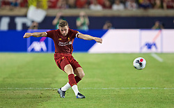 SOUTH BEND, INDIANA, USA - Friday, July 19, 2019: Liverpool's captain Jordan Henderson during a friendly match between Liverpool FC and Borussia Dortmund at the Notre Dame Stadium on day four of the club's pre-season tour of America. (Pic by David Rawcliffe/Propaganda)
